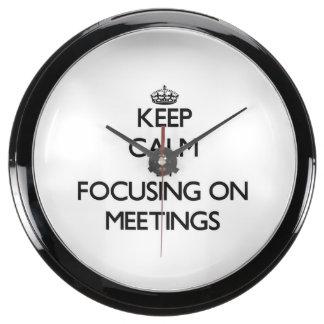 Keep Calm by focusing on Meetings Aquavista Clock