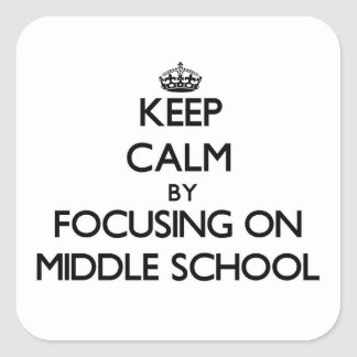Keep Calm by focusing on Middle School Stickers