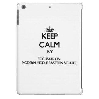 Keep calm by focusing on Modern Middle Eastern Stu iPad Air Cases