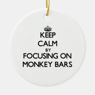 Keep Calm by focusing on Monkey Bars Christmas Ornament