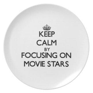Keep Calm by focusing on Movie Stars Plates
