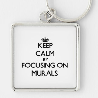 Keep Calm by focusing on Murals Keychains
