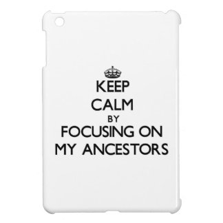 Keep Calm by focusing on My Ancestors iPad Mini Cover