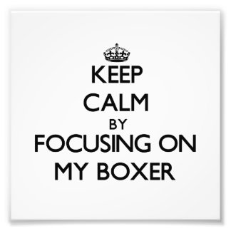 Keep Calm by focusing on My Boxer Art Photo