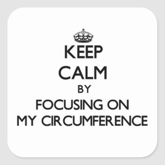 Keep Calm by focusing on My Circumference Square Sticker