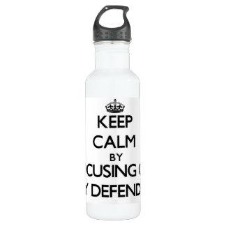 Keep Calm by focusing on My Defender 24oz Water Bottle