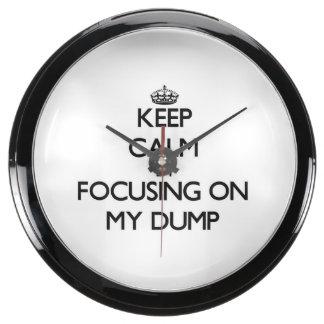 Keep Calm by focusing on My Dump Fish Tank Clock