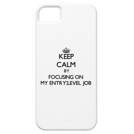 Keep Calm by focusing on MY ENTRY-LEVEL JOB iPhone 5/5S Cover