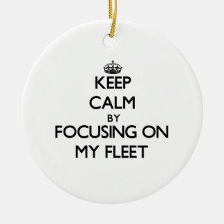 Keep Calm by focusing on My Fleet Christmas Tree Ornaments