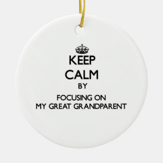 Keep Calm by focusing on My Great Grandparent Ornament