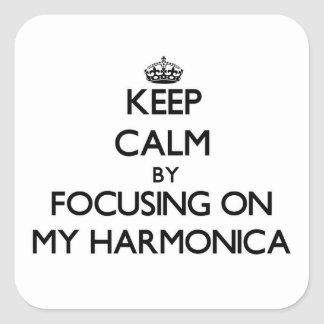 Keep Calm by focusing on My Harmonica Stickers