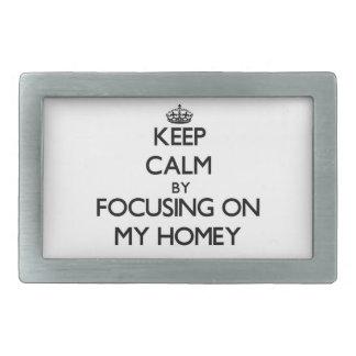 Keep Calm by focusing on My Homey Rectangular Belt Buckles