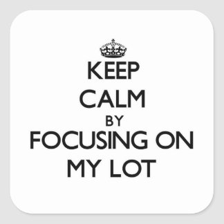 Keep Calm by focusing on My Lot Stickers