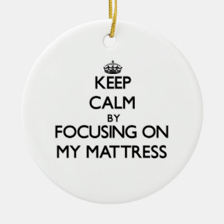 Keep Calm by focusing on My Mattress Christmas Tree Ornament