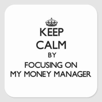 Keep Calm by focusing on My Money Manager Square Stickers