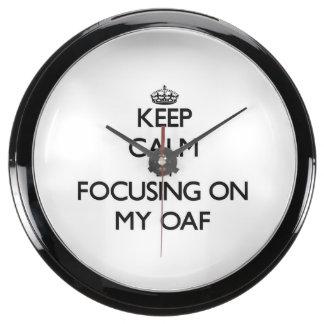 Keep Calm by focusing on My Oaf Aquarium Clock