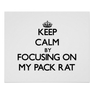 Keep Calm by focusing on My Pack Rat Print