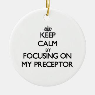 Keep Calm by focusing on My Preceptor Ornaments