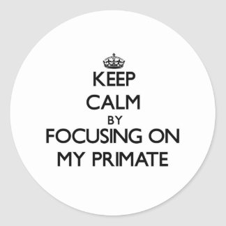 Keep Calm by focusing on My Primate Stickers