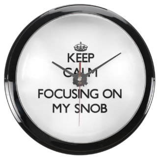 Keep Calm by focusing on My Snob Aquarium Clock