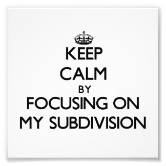 Keep Calm by focusing on My Subdivision Photo Art