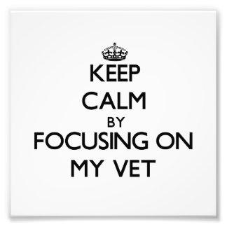 Keep Calm by focusing on My Vet Photo Print