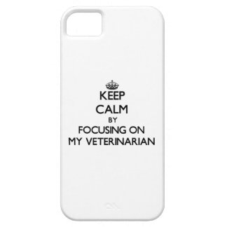 Keep Calm by focusing on My Veterinarian iPhone 5 Cases