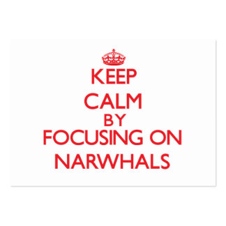 Keep calm by focusing on Narwhals Business Card Templates