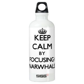 Keep calm by focusing on Narwhals SIGG Traveler 0.6L Water Bottle