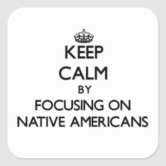 Keep Calm by focusing on Native Americans Sticker