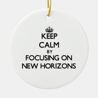 Keep Calm by focusing on New Horizons Christmas Tree Ornaments