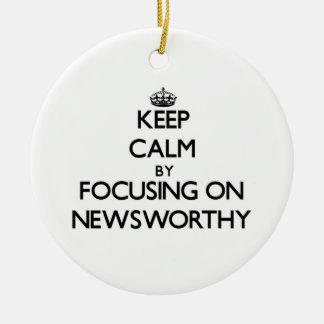 Keep Calm by focusing on Newsworthy Christmas Tree Ornaments