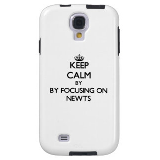 Keep calm by focusing on Newts Galaxy S4 Case