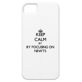 Keep calm by focusing on Newts iPhone 5 Cases