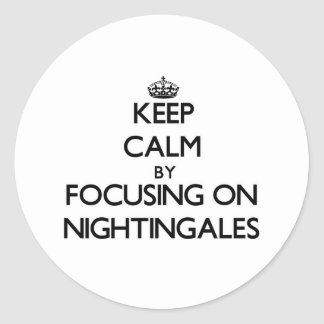 Keep Calm by focusing on Nightingales Stickers