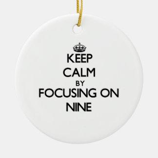 Keep Calm by focusing on Nine Christmas Tree Ornaments