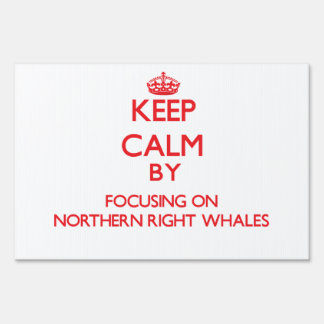 Keep calm by focusing on Northern Right Whales Sign