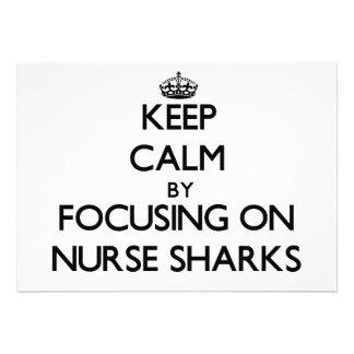 Keep Calm by focusing on Nurse Sharks Custom Announcement