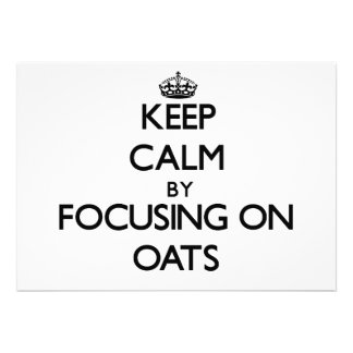 Keep Calm by focusing on Oats Cards