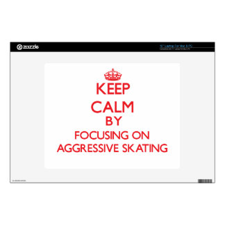 Keep calm by focusing on on Aggressive Skating Decal For Laptop