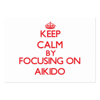 Keep calm by focusing on on Aikido Business Card Templates