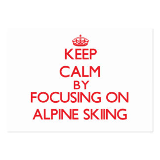 Keep calm by focusing on on Alpine Skiing Business Cards