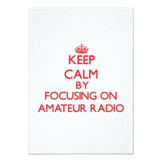 Keep calm by focusing on on Amateur Radio Custom Invites