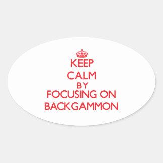Keep calm by focusing on on Backgammon Sticker