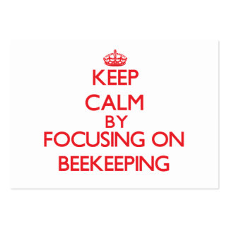 Keep calm by focusing on on Beekeeping Business Card Template