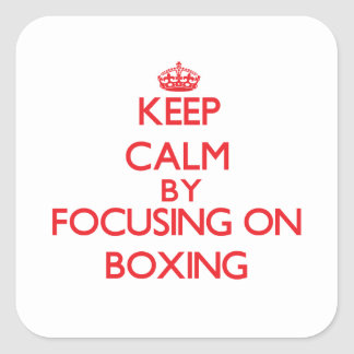 Keep calm by focusing on on Boxing Sticker