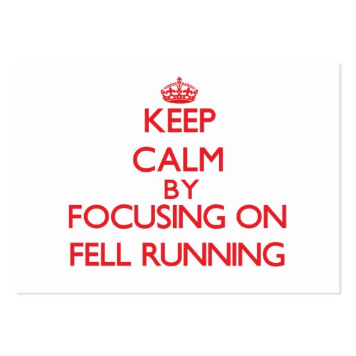 Keep calm by focusing on on Fell Running Business Card Template