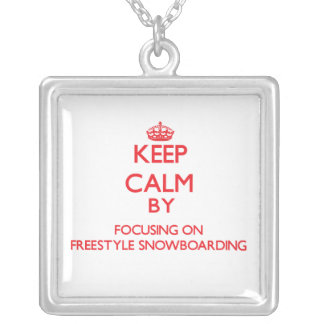 Keep calm by focusing on on Freestyle Snowboarding Necklace