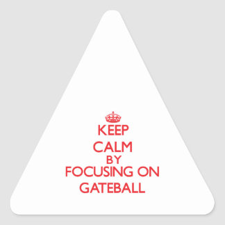 Keep calm by focusing on on Gateball Stickers