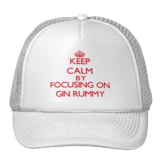 Keep calm by focusing on on Gin Rummy Mesh Hats